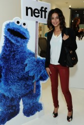 **Adds** Emmanuelle Chriqui - Neff Headwear Seventh Letter Sesame Street Art Show 4/27/12