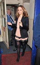 Kimberley Walsh Leaving the Theatre Royal in London 5th May x9