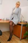 Вера Стивенс, фото 45. Faith Stevens - Grey Suit (OnlyTease), foto 45