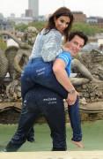 Shobna Gulati Tight Jeans & Knee High Boots